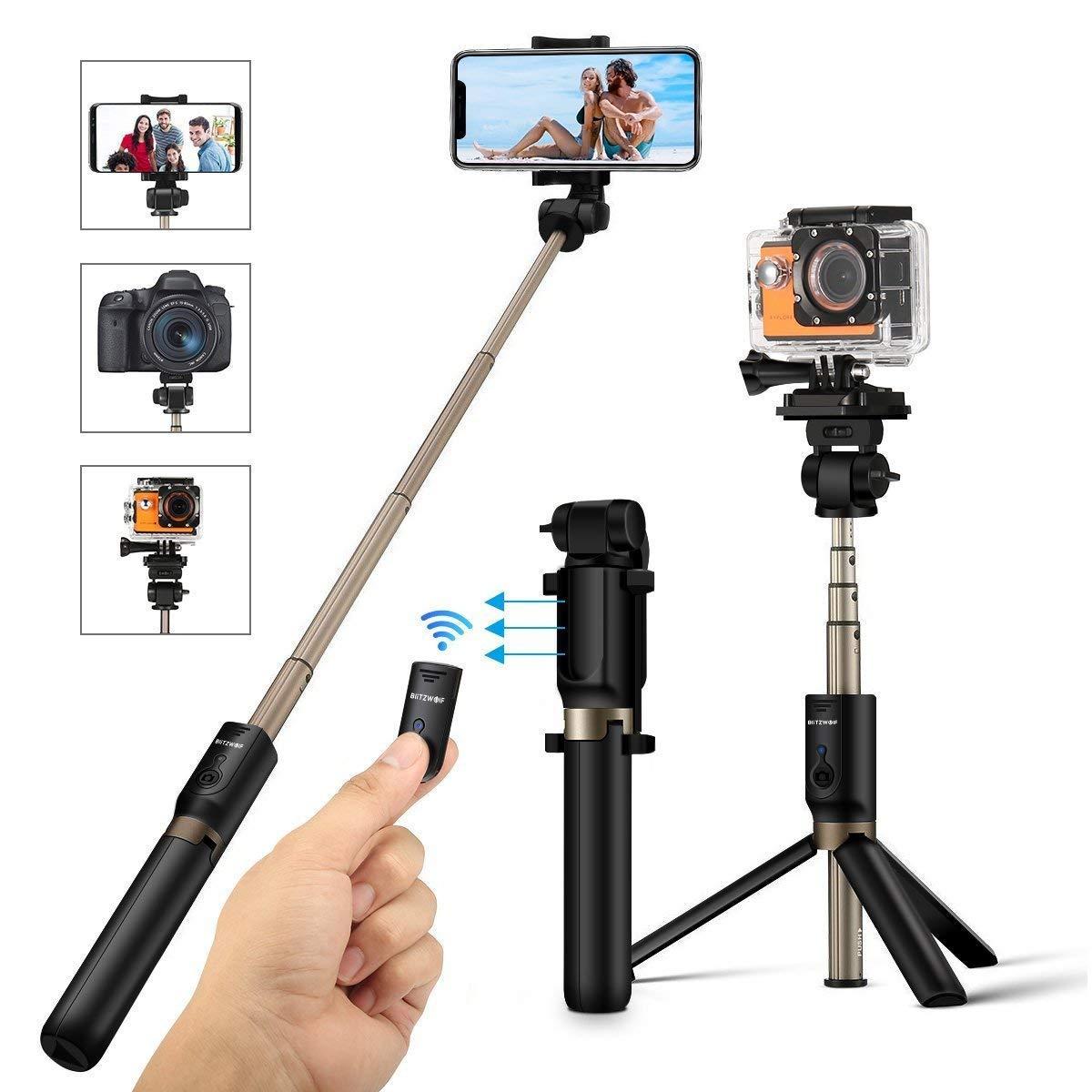 BlitzWolf selfie stick tripod with Bluetooth remote