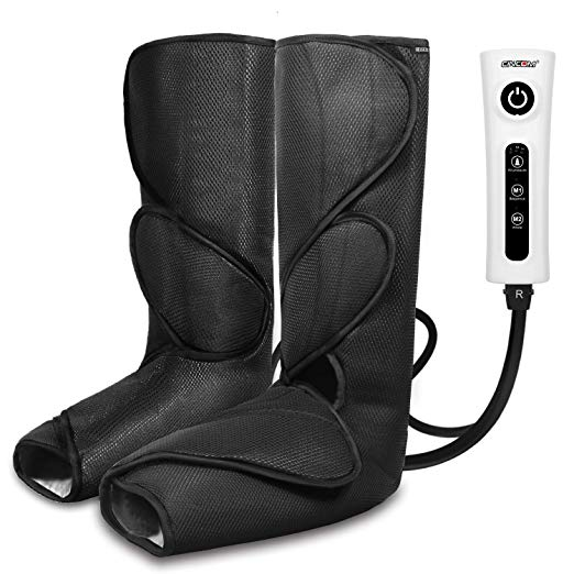 CINCOM Leg Massager for Foot Calf Air Compression Leg Wraps with Portable Handheld Controller