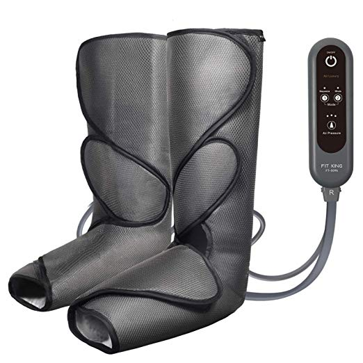 FIT KING Leg Air Massager for Circulation and Relaxation Foot and Calf Massage with Handheld Controller