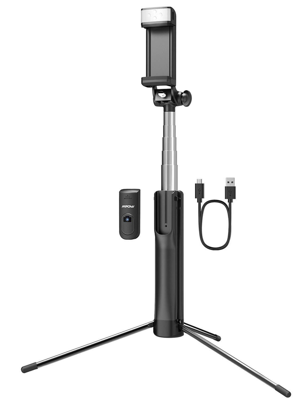 Mpow Extendable selfie stick tripod.