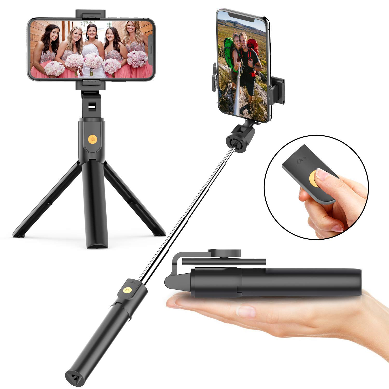 Selfie Stick Tripod with Bluetooth Remote by Danfer
