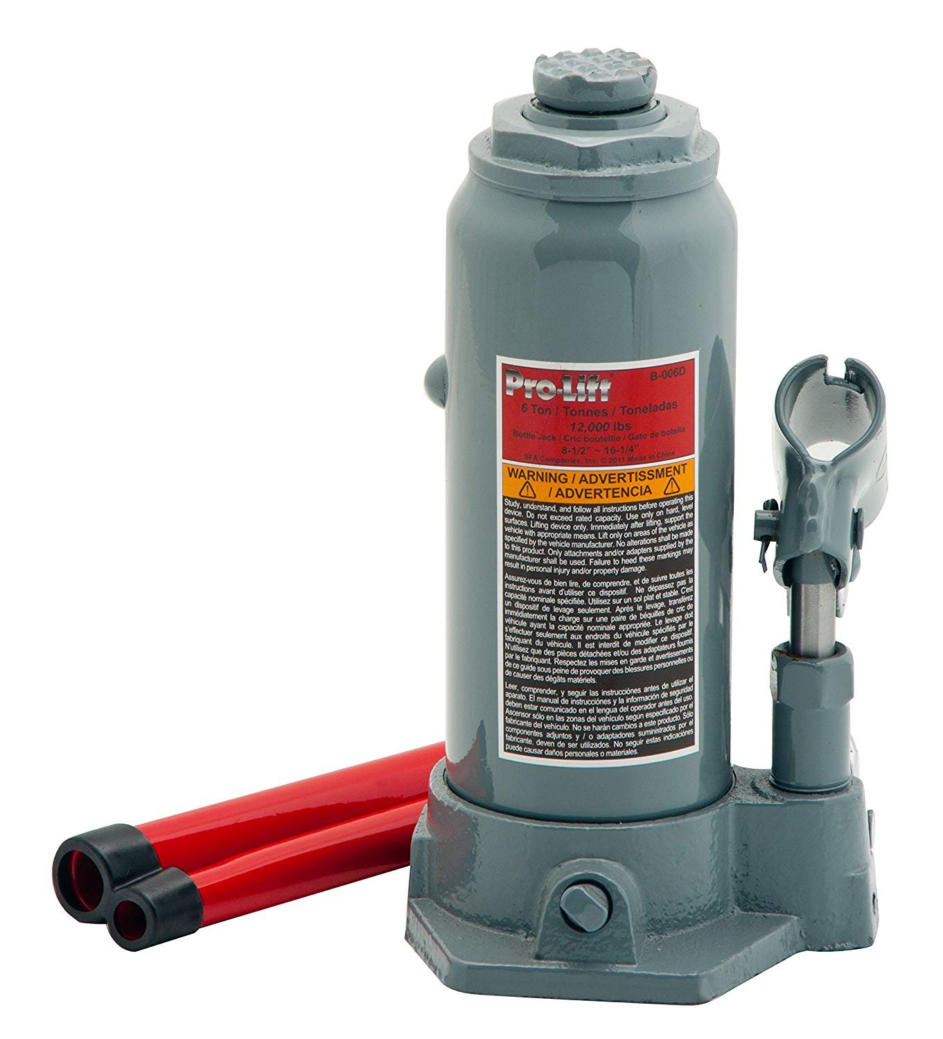 The 6 Ton Pro-Lift B-006D Hydraulic Bottle Jack