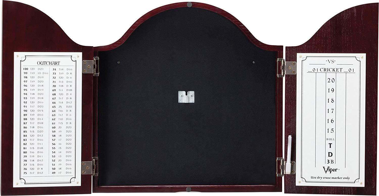 Viper Cambridge Sisal/Bristle Steel Tip Dartboard and Cabinet Bundle