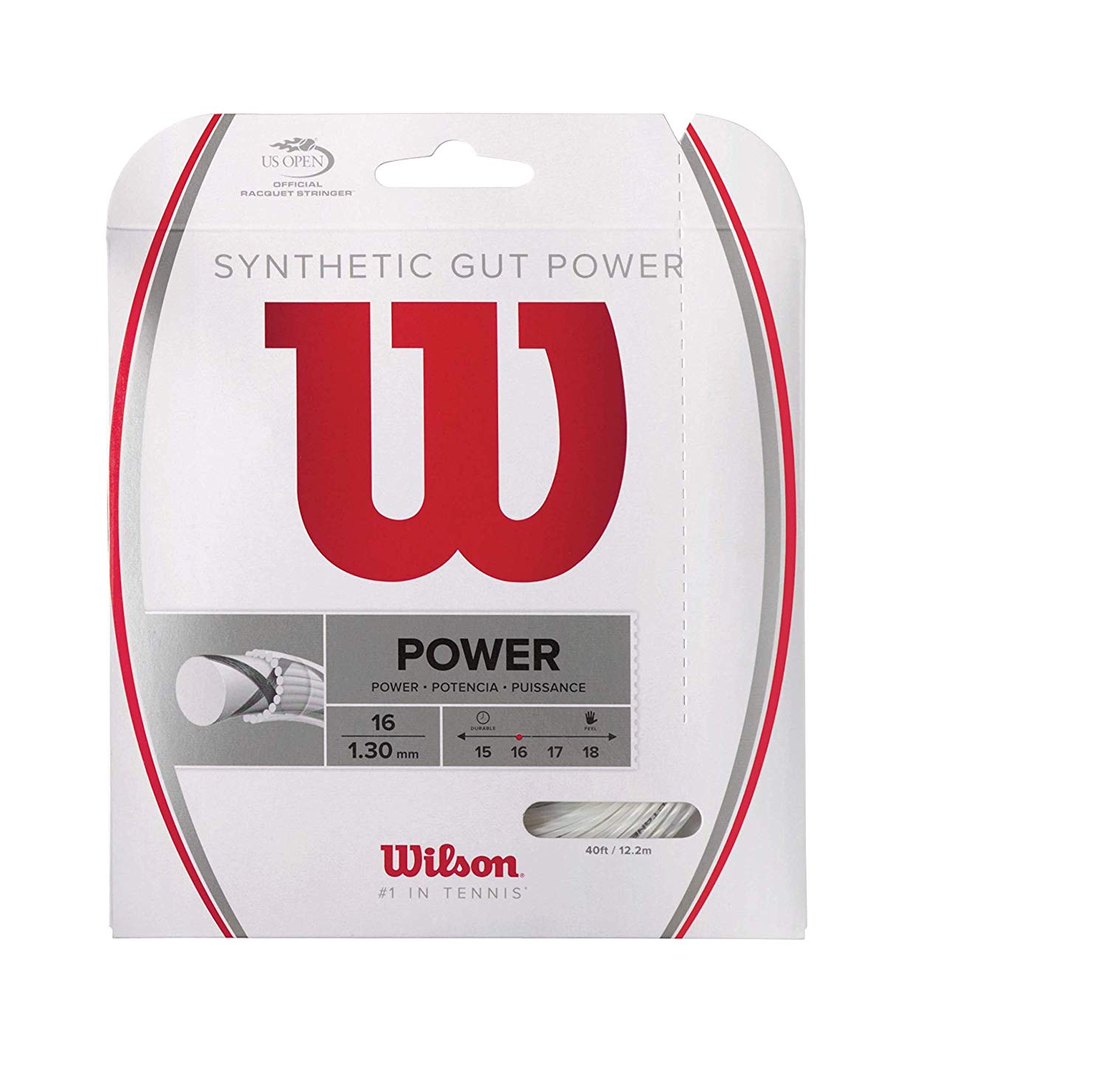 Wilson Synthetic Gut Power 40-Feet Tennis String Set