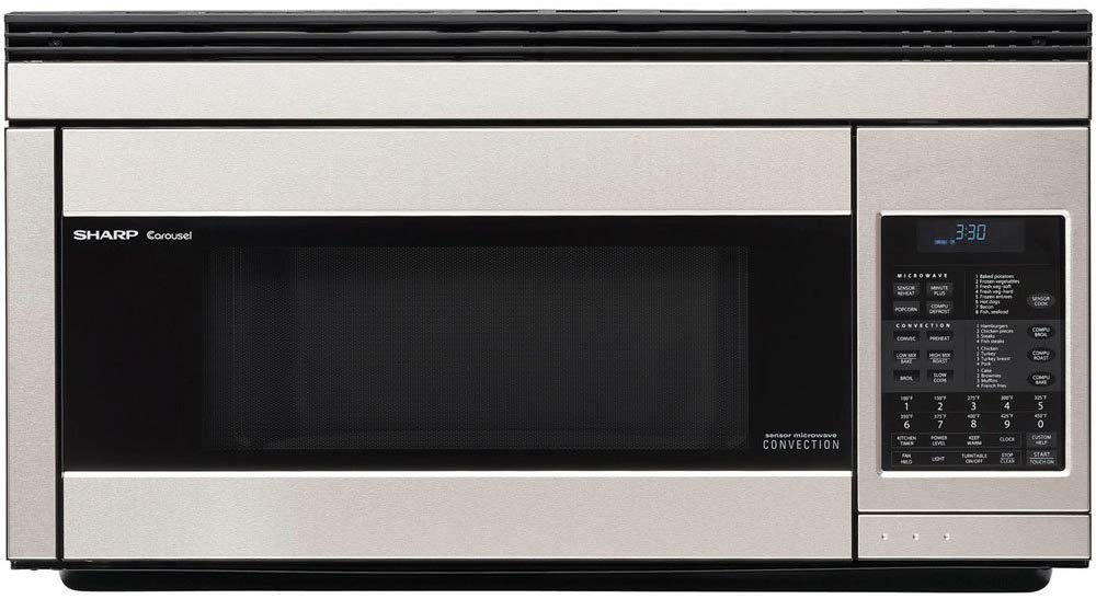 Sharp R1874T 850W Over-the-Range Convection Microwave.