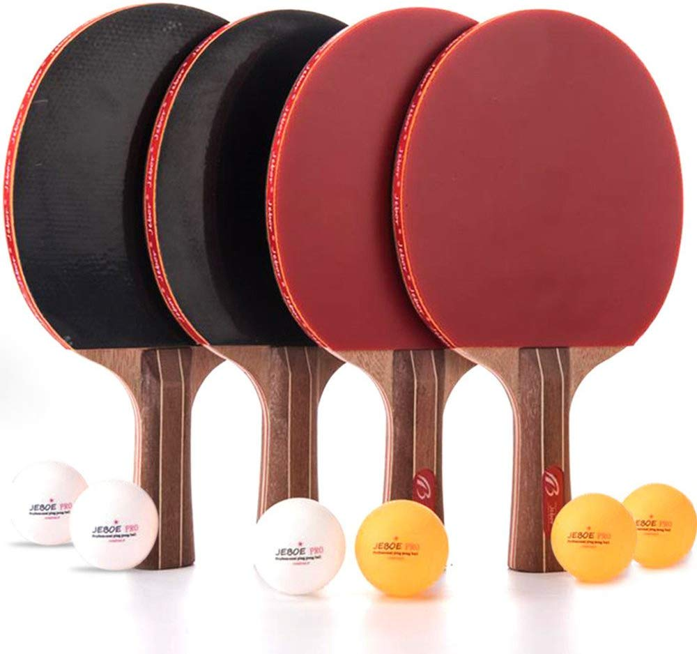 Jebor Professional Ping Pong Paddle Advanced Training Table Tennis Racket with Carrying Case