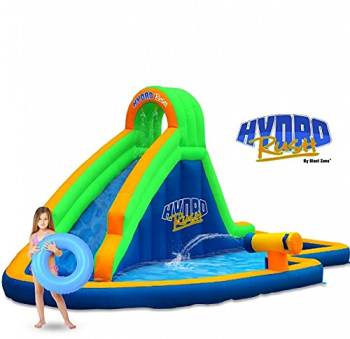Blast Zone Hydro Rush Inflatable Water Park.