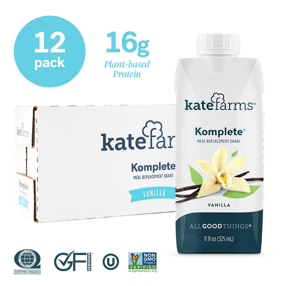 Kate Farms Komplete Vanilla Meal Replacement Shake