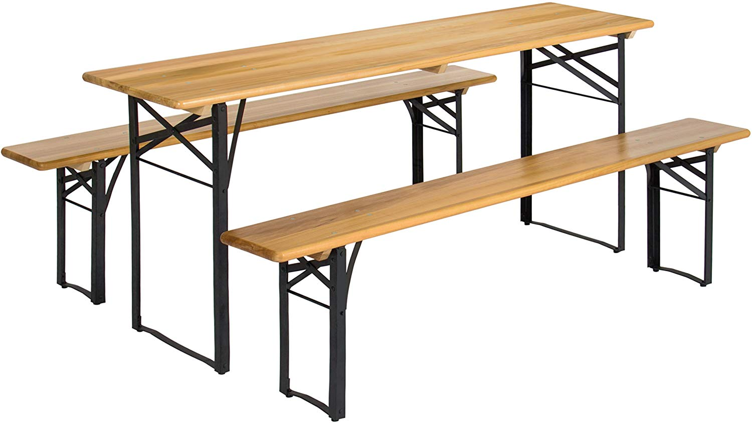 The Best Choice Products Folding Wood-Topped Picnic Table