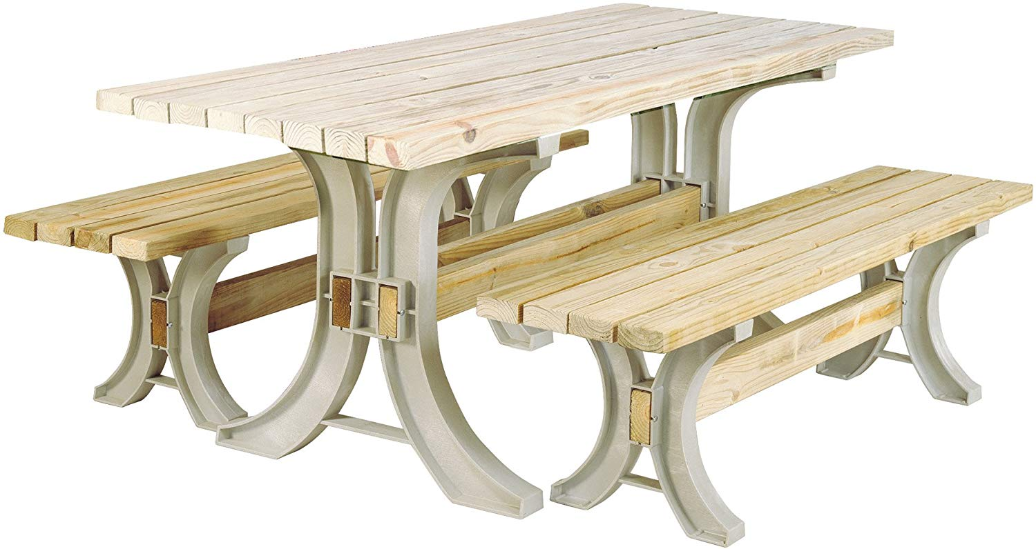 The Hopkins (90182ONLMI) 2×4 Picnic Table Kit (Frames Only)