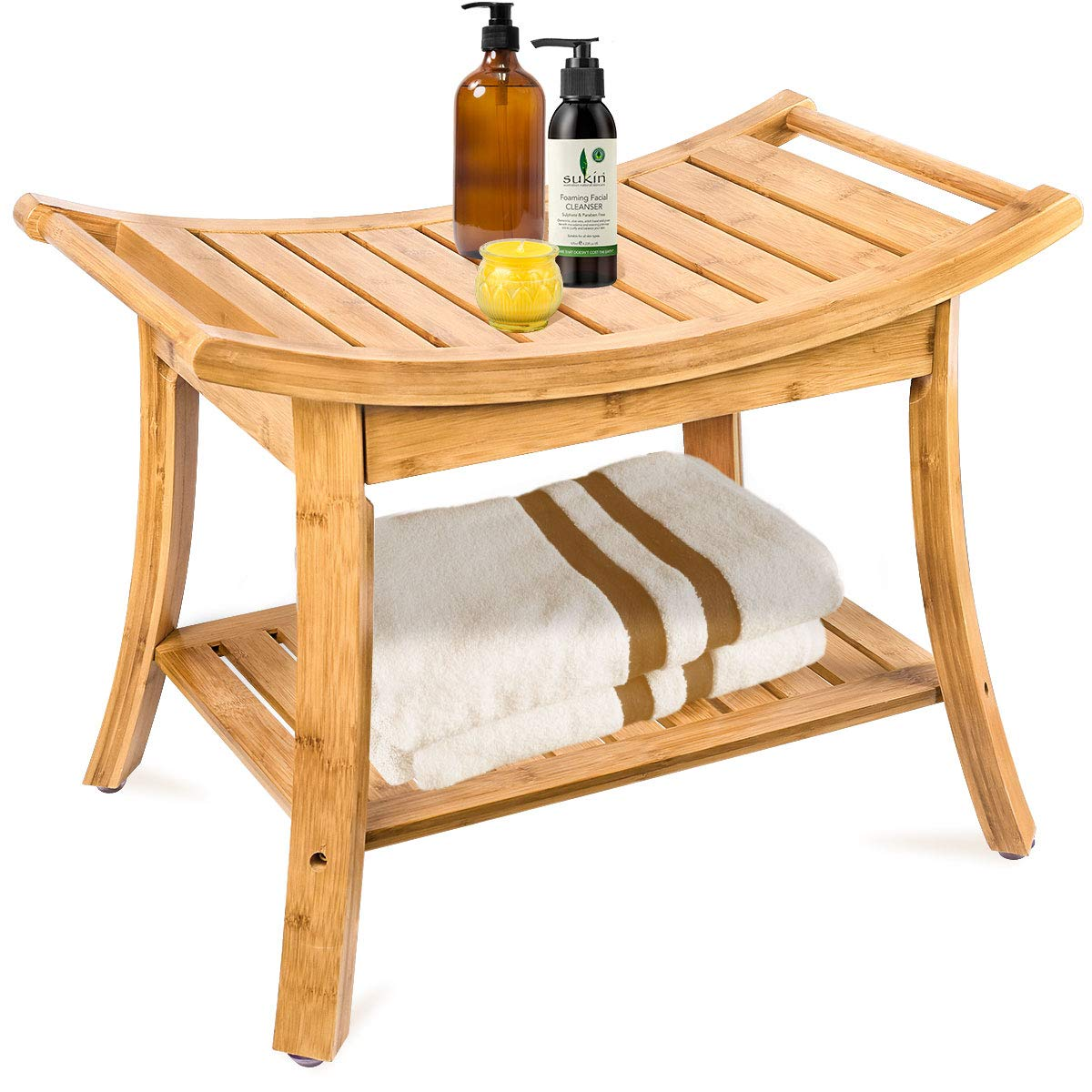 Bamboo Bathroom Bench by Ybj-ake