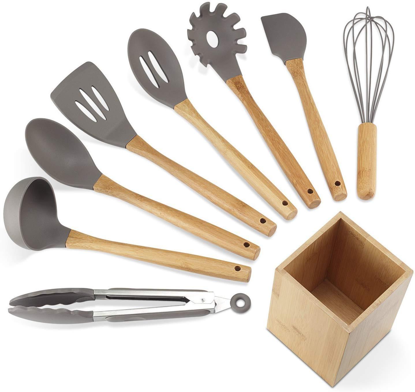 NEXGADGET, Premium Silicone Kitchen Utensils (9 Pieces)