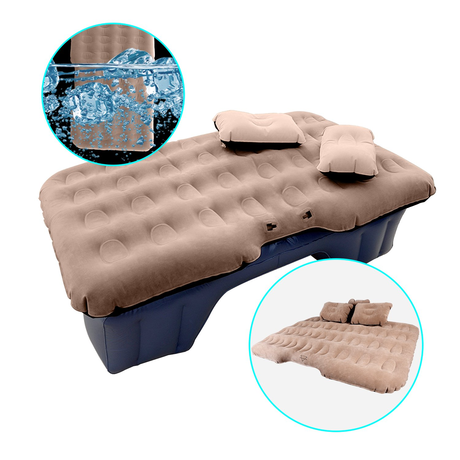 Shelterin, Inflatable Car Air Mattress Camping Travel Car Air Bed