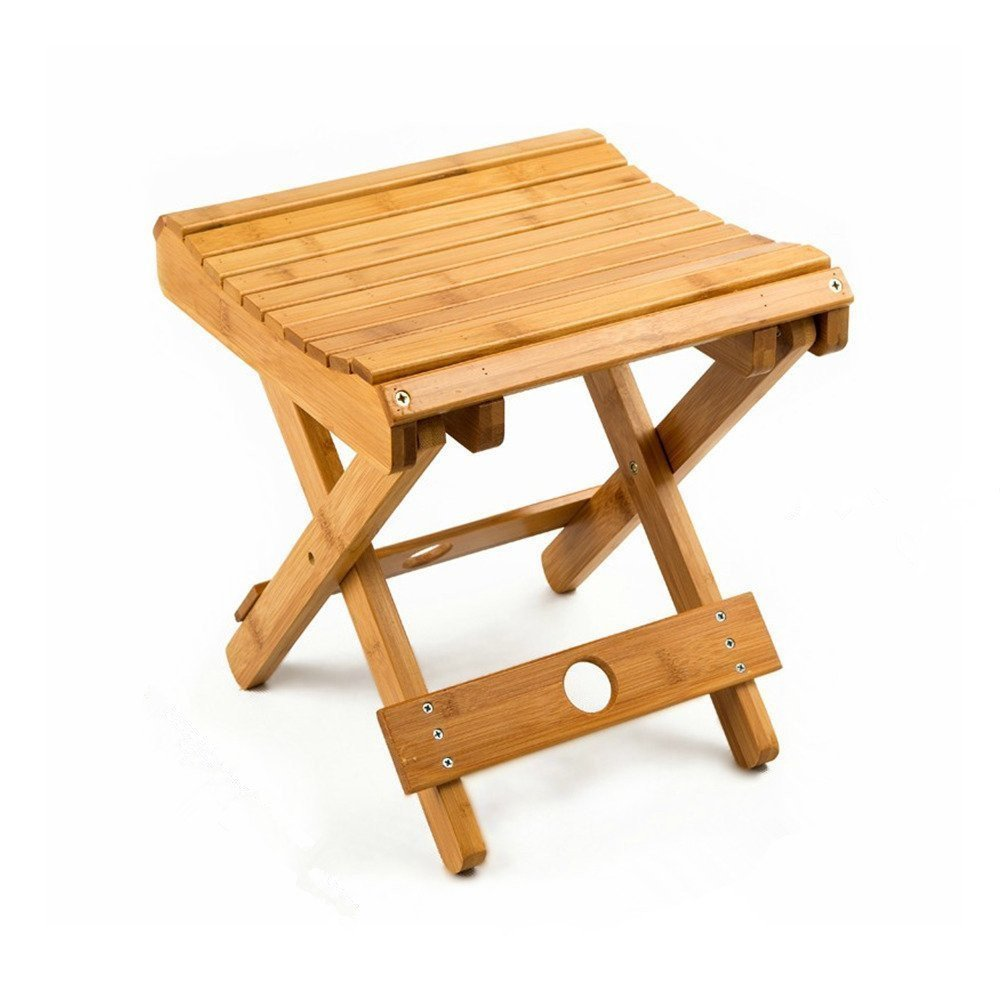 Urforestic 100% Natural Bamboo Folding Stool