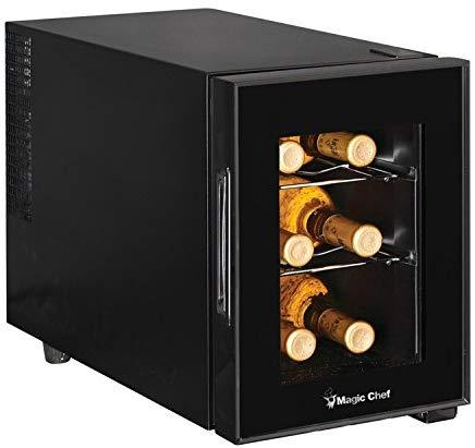 Magic Chef 6 Bottle Countertop Wine Cooler