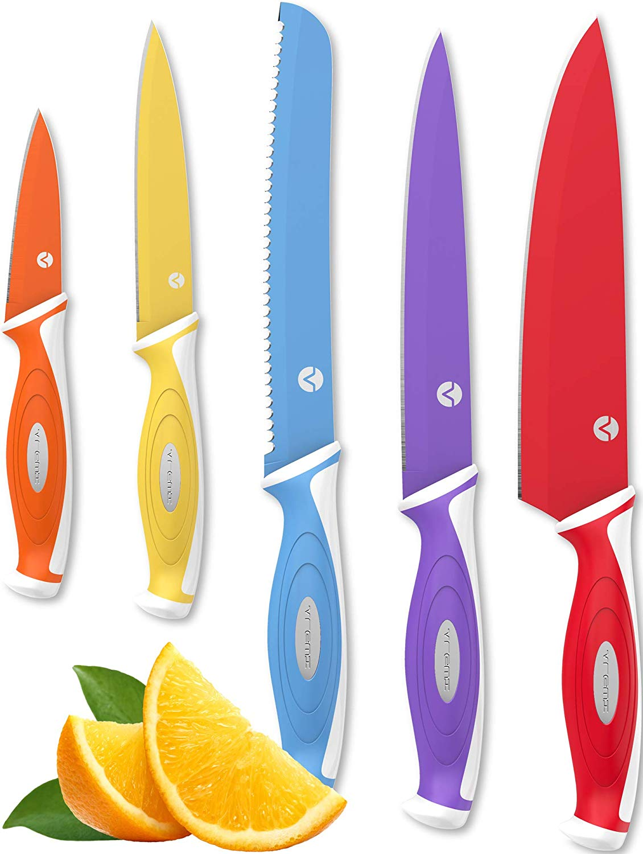 Vremi 5 Piece Colorful Knife Set