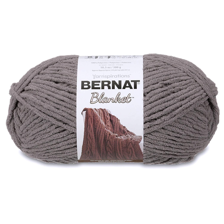 Bernat Blanket Yarn, Dark Grey