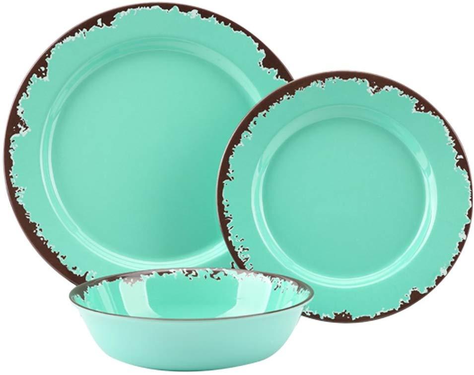 Yinshine Rustic Melamine Dinnerware Set