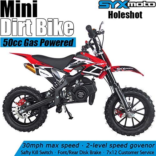 SYX MOTO Kids Mini Dirt Bike Gas Power 2-Stroke