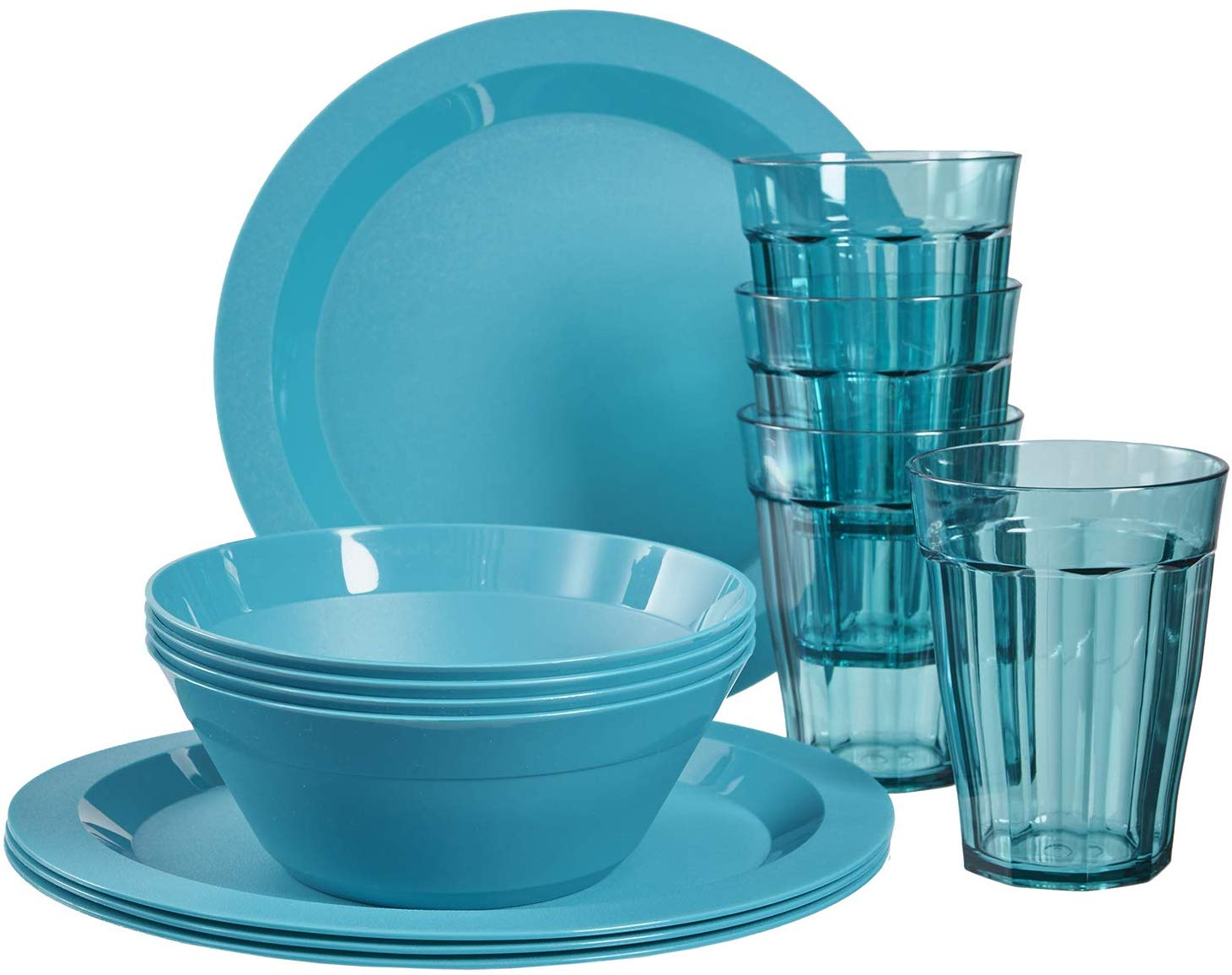 Cambridge Plastic Plate, Bowl, and Tumbler Dinnerware