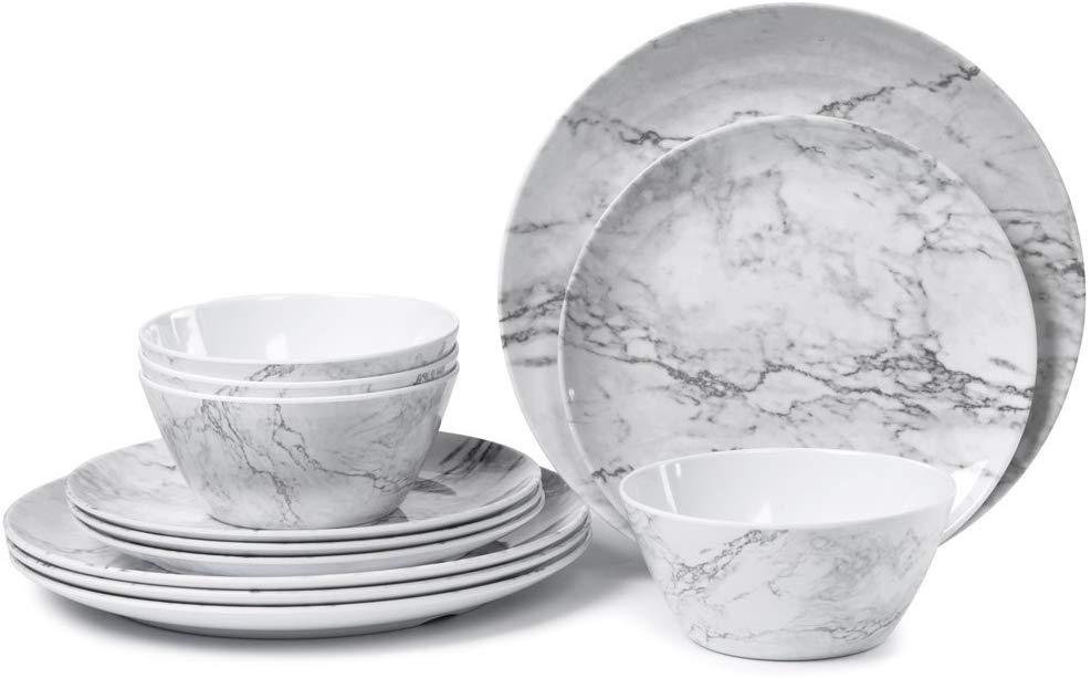 Marjory Melamine Dinnerware Set