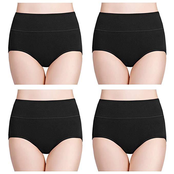 Wirarpa Women's Cotton Underwear, High Waist Briefs, No Muffin Top Ladies Stretch: