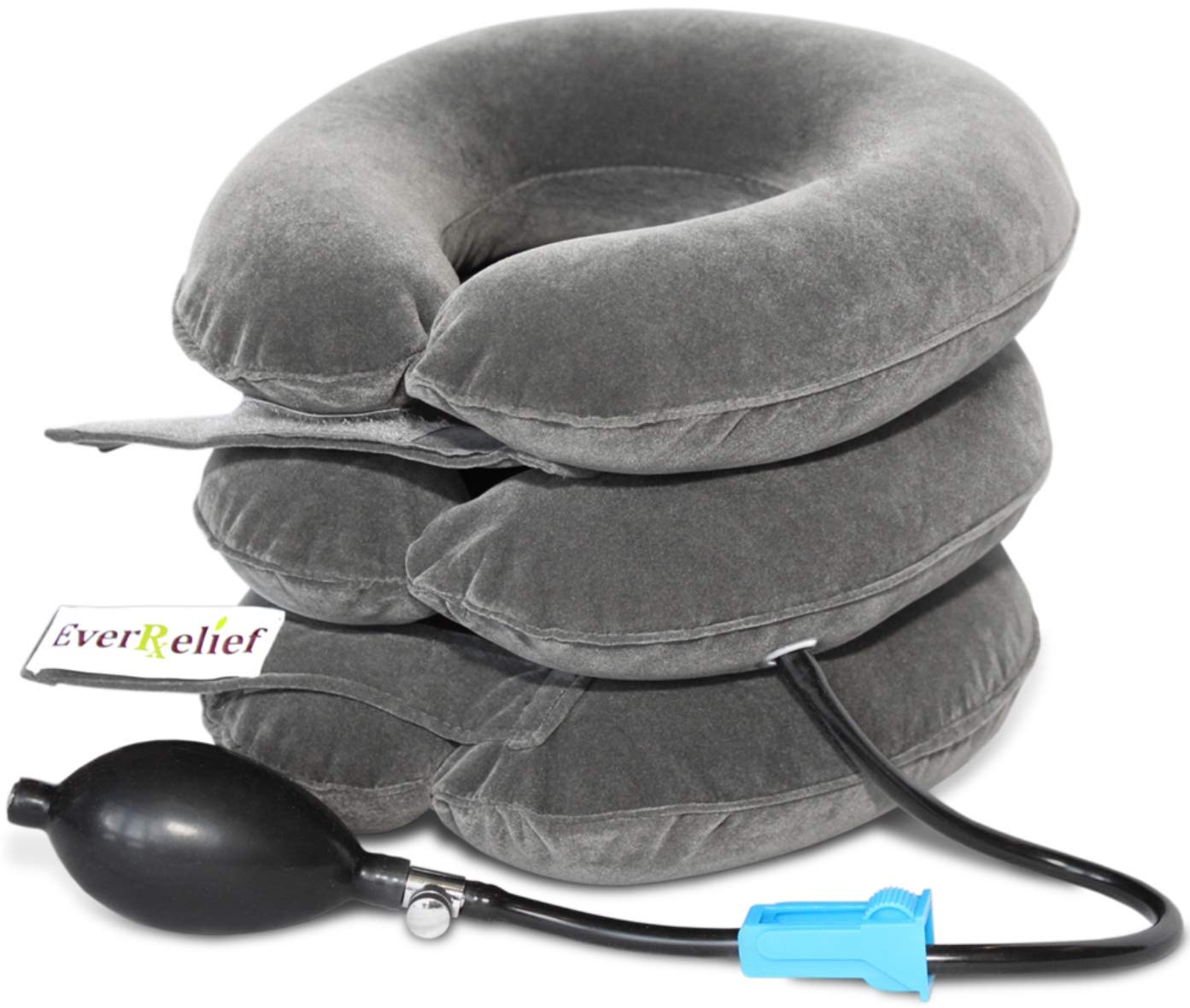 Cervical Neck Traction Device by EverRelief - Inflatable & Adjustable