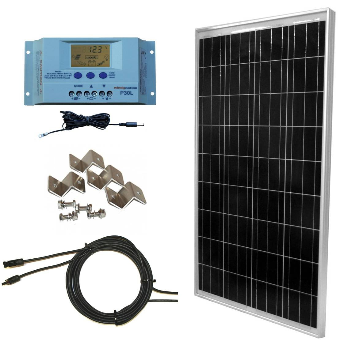 WindyNation 100 Watt Solar Panel