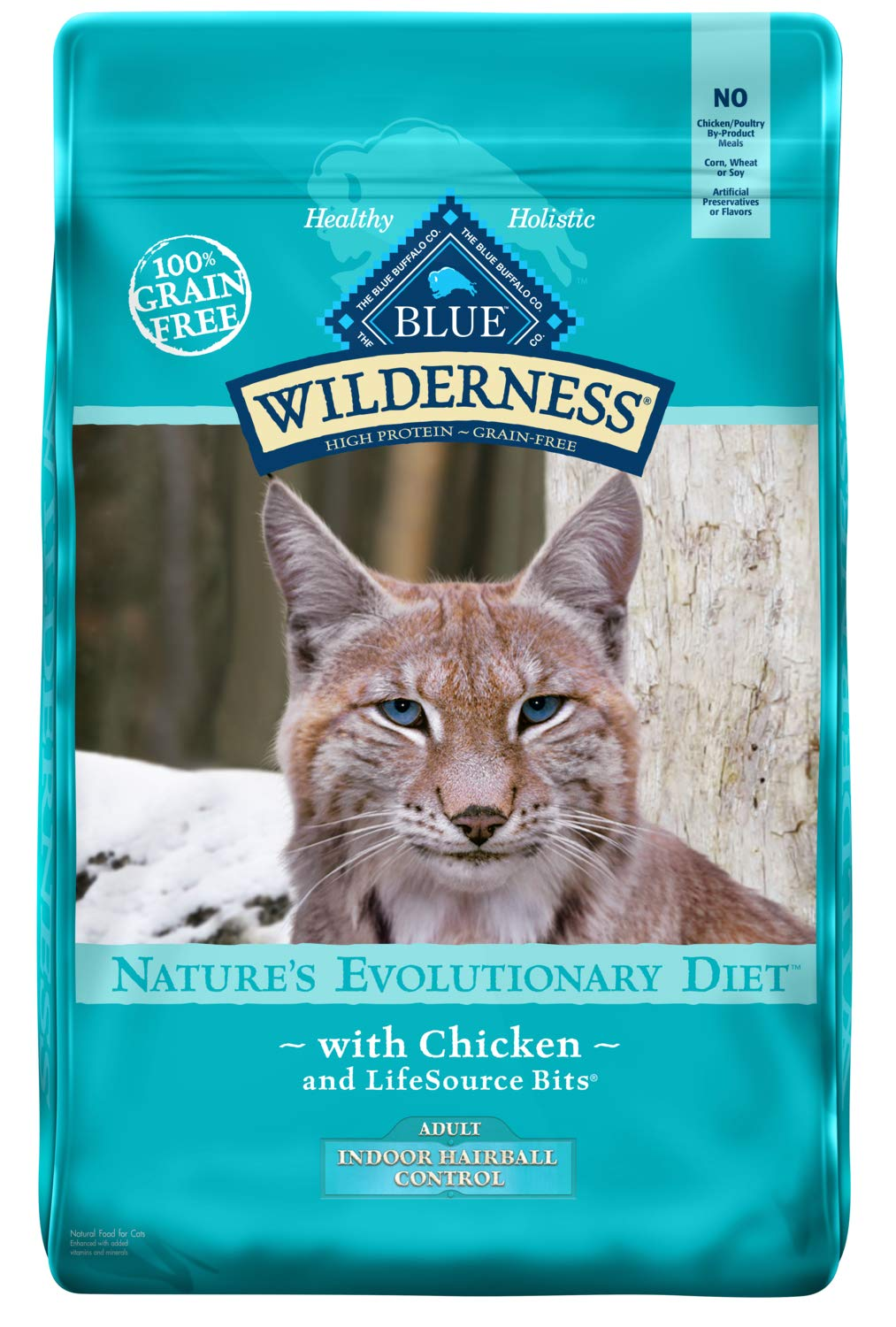 Blue Buffalo Wilderness High Protein Grain Free, Natural Adult Indoor Hairball Control Dry Cat Food
