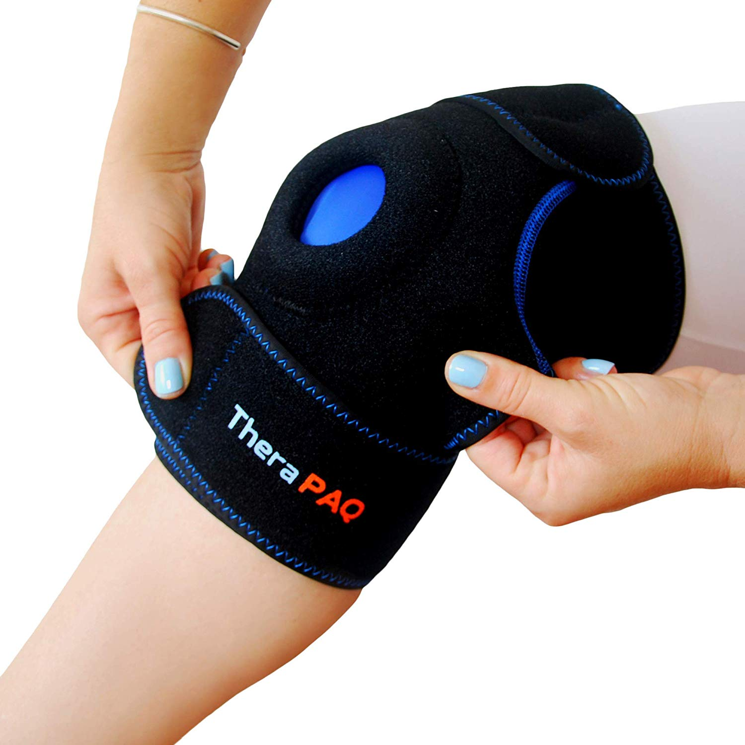 Knee Ice Pack Wrap by TheraPAQ: Hot & Cold Therapy Knee Support Brace