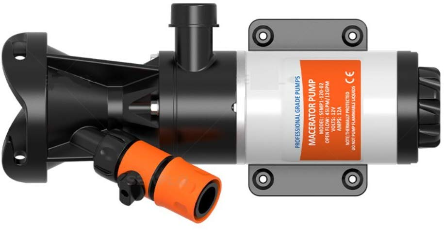 SewerFlo Quick Release RV Macerator Pump