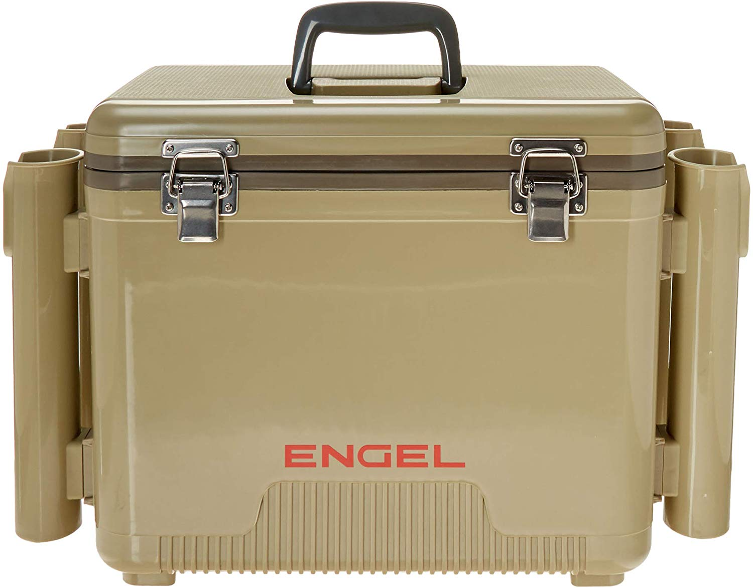Engel cooler/ dry box with 4 rod holders- 19 qt- white