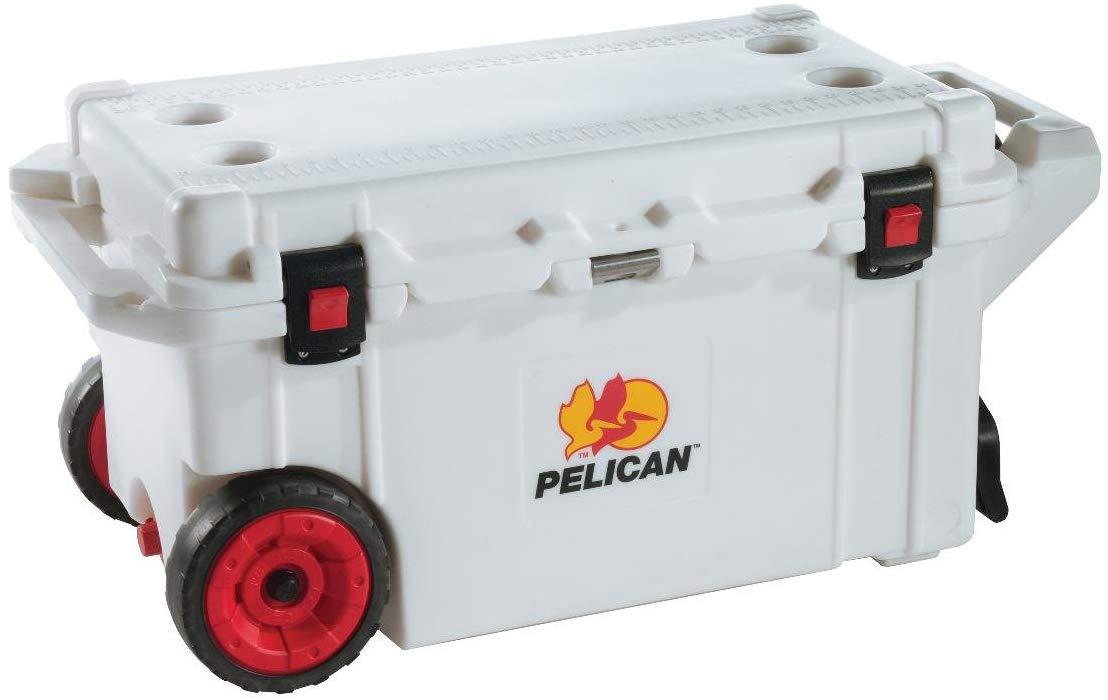 Pelican 80 Quart Wheeled Elite Cooler - Marine White