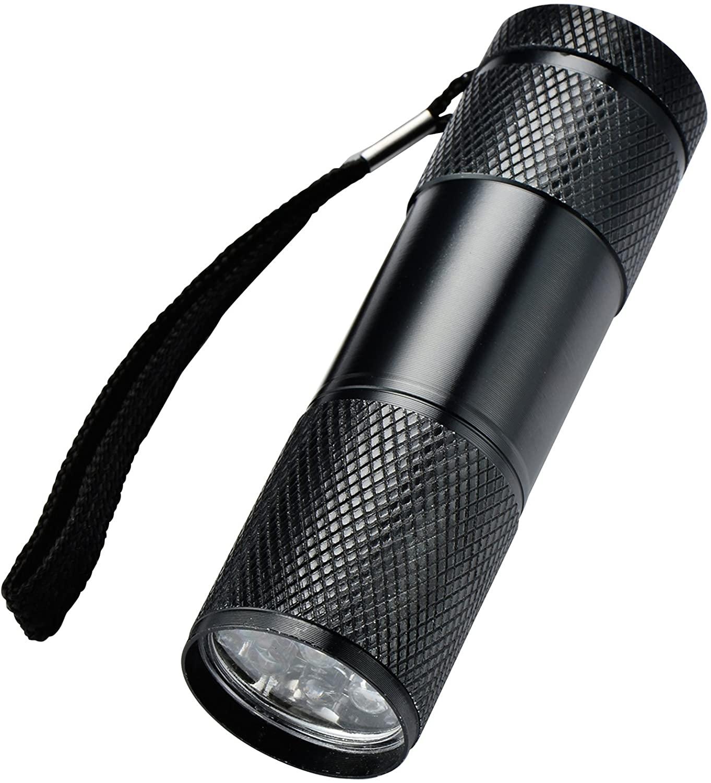 Optimal Shop 6 Pack UV Ultra Violet Blacklight 9 LED Flashlight Torch Light Outdoors Etc (6 Pack)