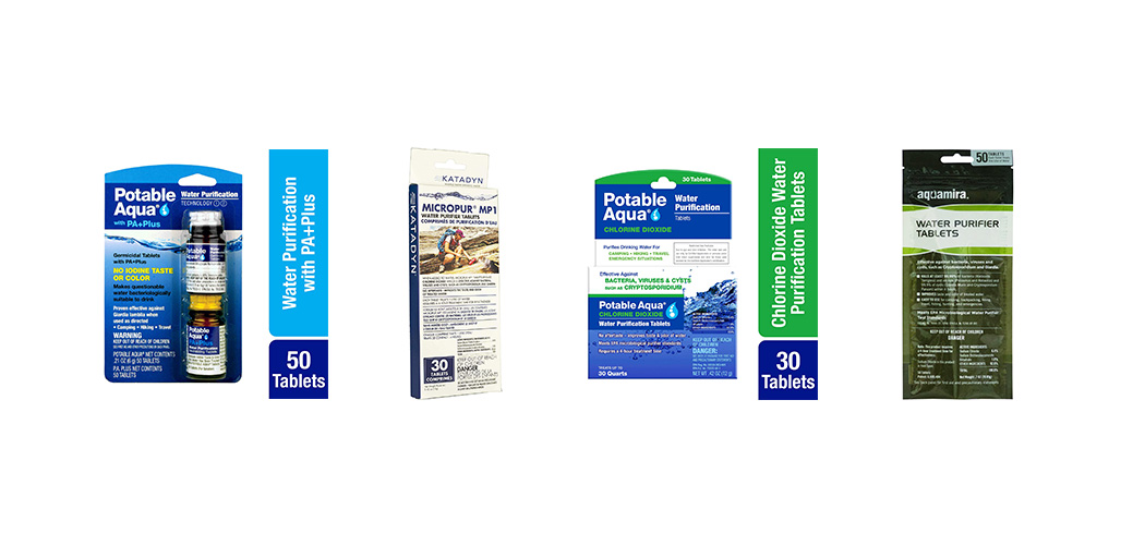 30 Count Potable Aqua Chlorine Dioxide Water Purification Tablets