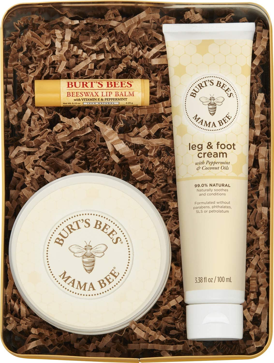 Burts Bees Mama Bee Gift Set with Tin, 3 Pregnancy Skin Care