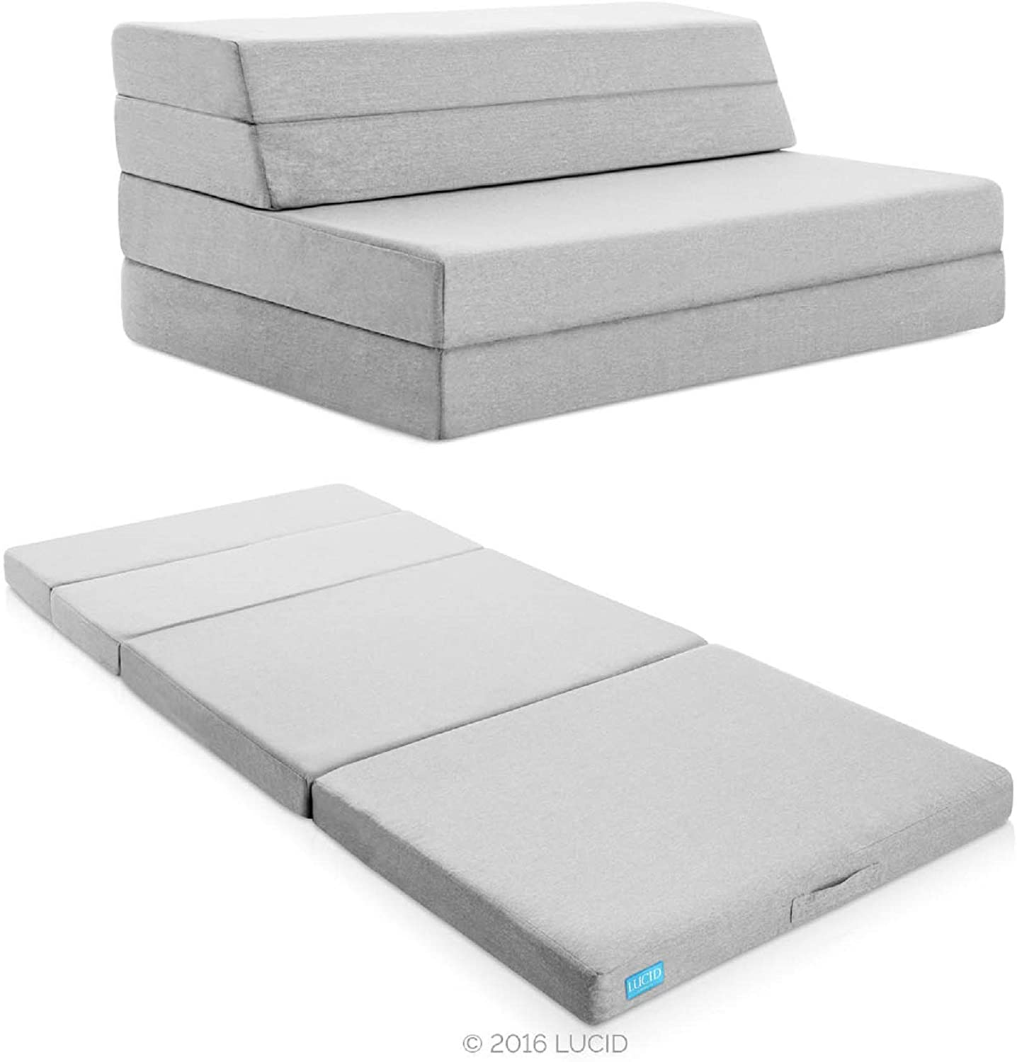 "Lucid 4"" FoldinLucid 4"" Folding Mattress & Sofa g Mattress & Sofa"