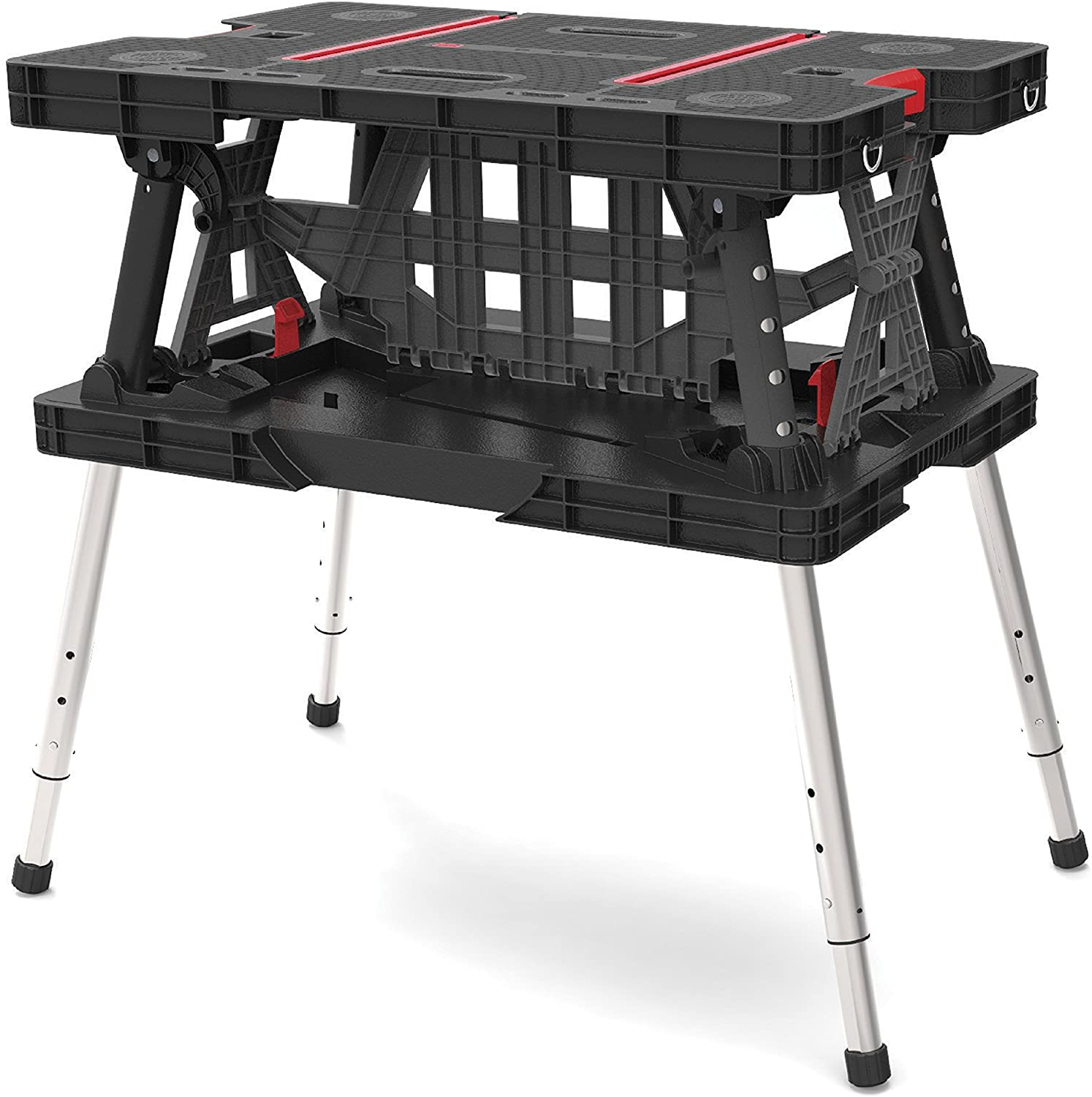 Keter Folding Adjustable Workbench Sawhorse