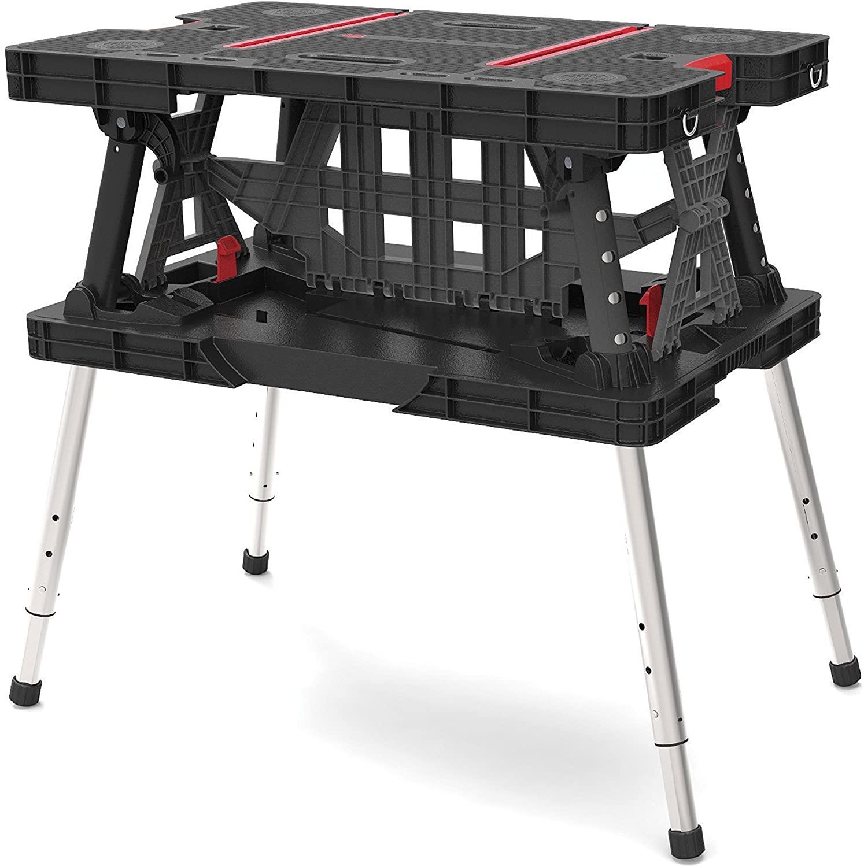 Keter Folding Adjustable Workbench Sawhorse