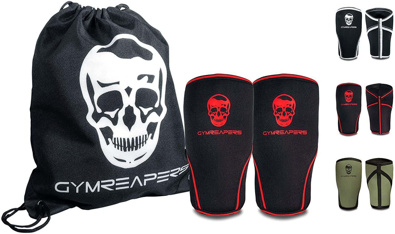 Gymreapers Knee Sleeves (1 Pair) Free Gym Bag