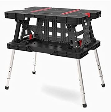 Keter Folding Work Table/bench With Extendable Legs